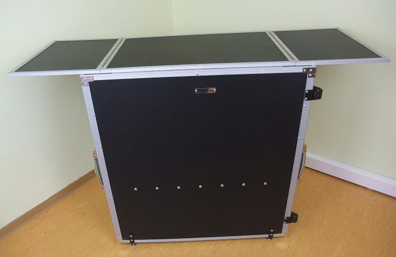 table de dj pliable portable mobile bar stand. Black Bedroom Furniture Sets. Home Design Ideas