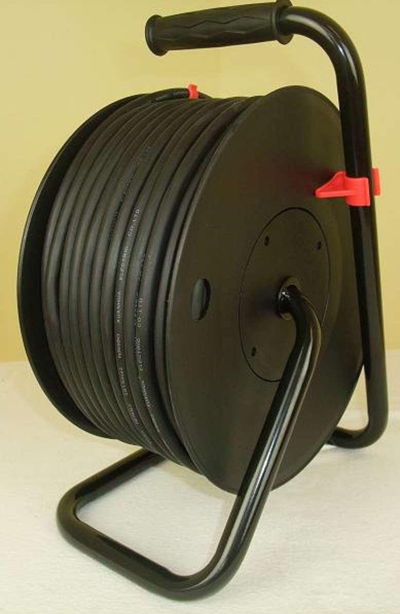 2 x aussen kabeltrommel 50 m schuko verl ngerungskabel 3x1. Black Bedroom Furniture Sets. Home Design Ideas