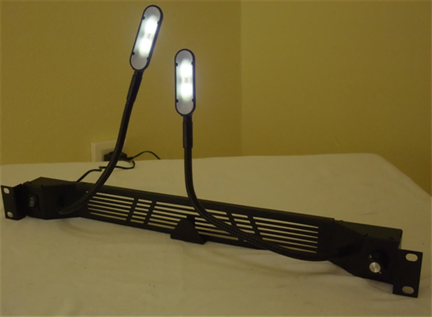 2 fach led schwanenhals racklampe wei es blaues licht rackbeleuchtung racklight. Black Bedroom Furniture Sets. Home Design Ideas