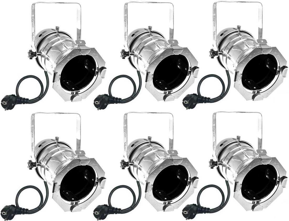 6x par 30 spot silber m e27 fassung filterrahmen par 30 scheinwerfer spotlight ebay. Black Bedroom Furniture Sets. Home Design Ideas