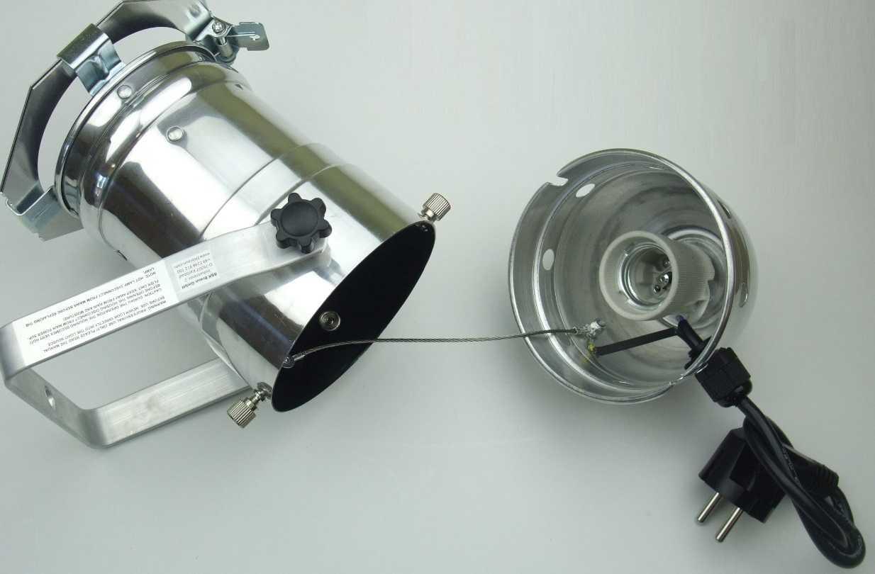 E27 Fassung /& Stecker PAR 30 Scheinwerfer Varytec 4x PAR-30 Spot-Light Silber m