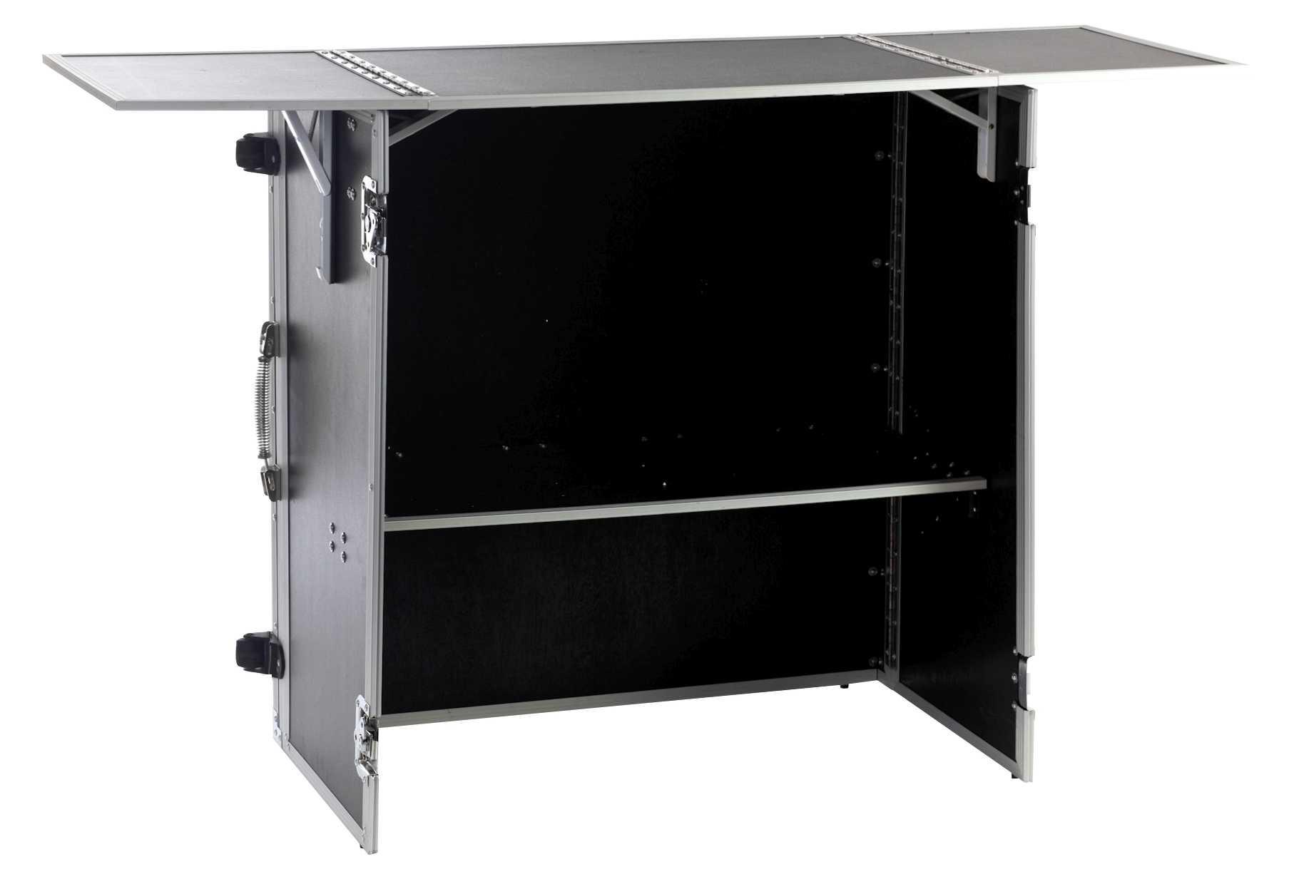 dj tisch zusammenklappbar portabler dj tisch case info. Black Bedroom Furniture Sets. Home Design Ideas