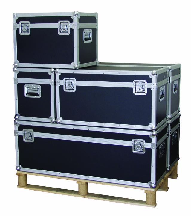 professionale cassa da trasporto 80x40x43 cm box flight case fly case flycase ebay. Black Bedroom Furniture Sets. Home Design Ideas