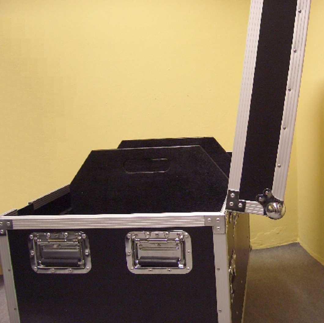 Universal Tourcase 60x60x77 cm Transportcase Transportkiste Kabelcase mit Rollen