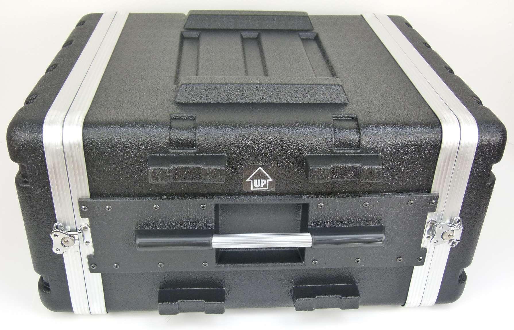 3HE ABS Kunststoffrack schwarz 3 HE Double Door Hartschlenrack Flightcase KR-19