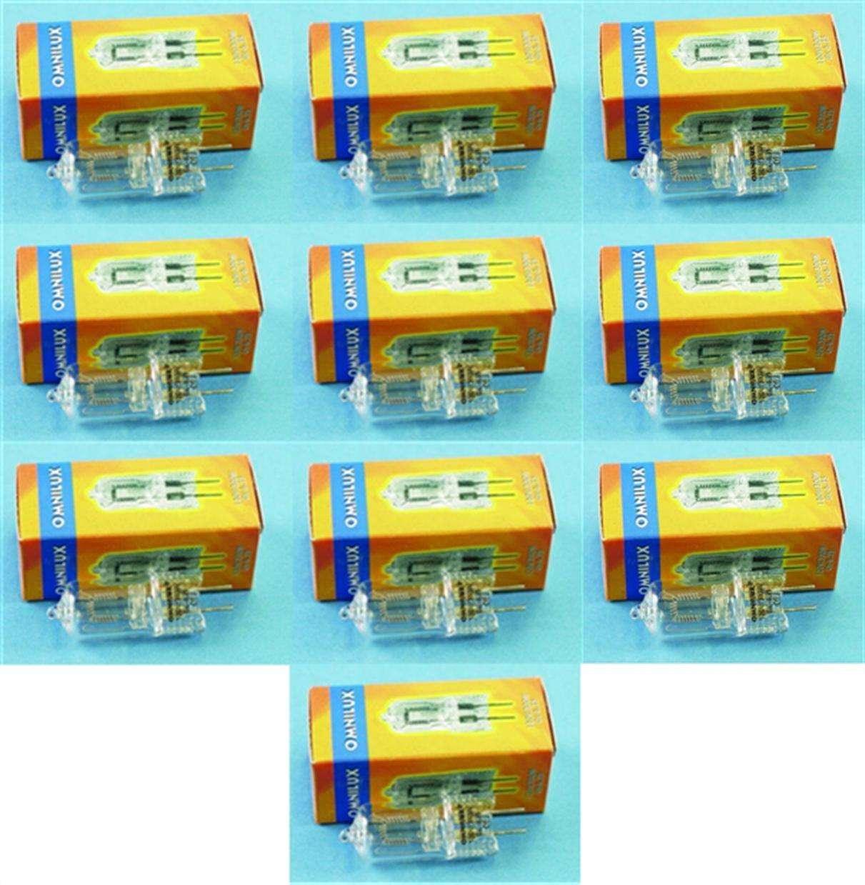 10 Stück 120V 300W Gx-6,35 G-6,35 Studiolampe Stiftsockel-Lampe Halogenlampe NEU