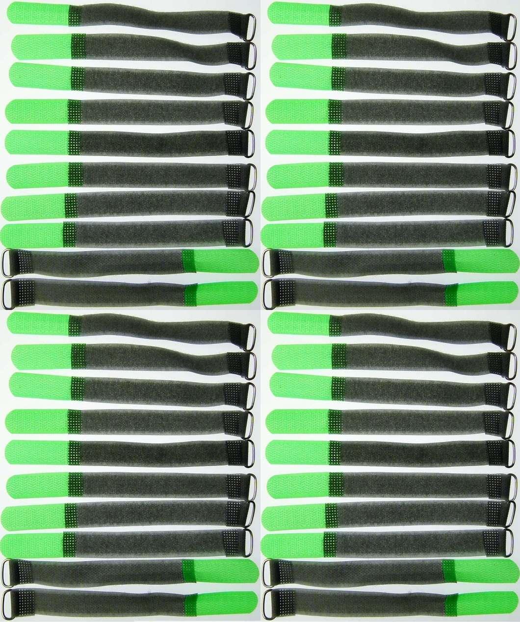 100 Kabelbinder Kabelklett 50 cm x 50 mm neon grün FK Klettband Klettkabelbinder