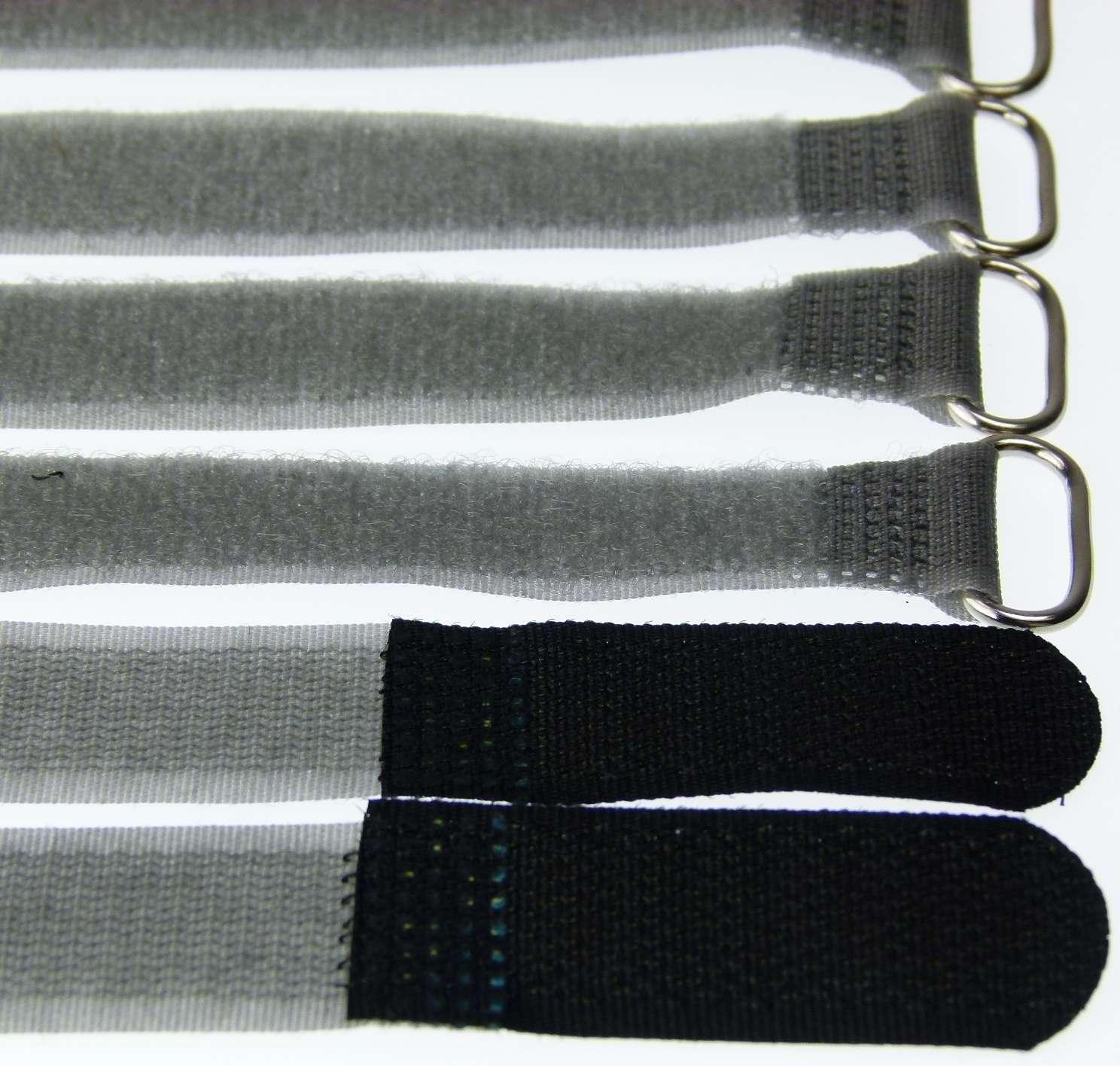 40x Kabelklett m Öse 160 x 16 mm schwarz Kabel Klettband Kabelbinder Klettbänder