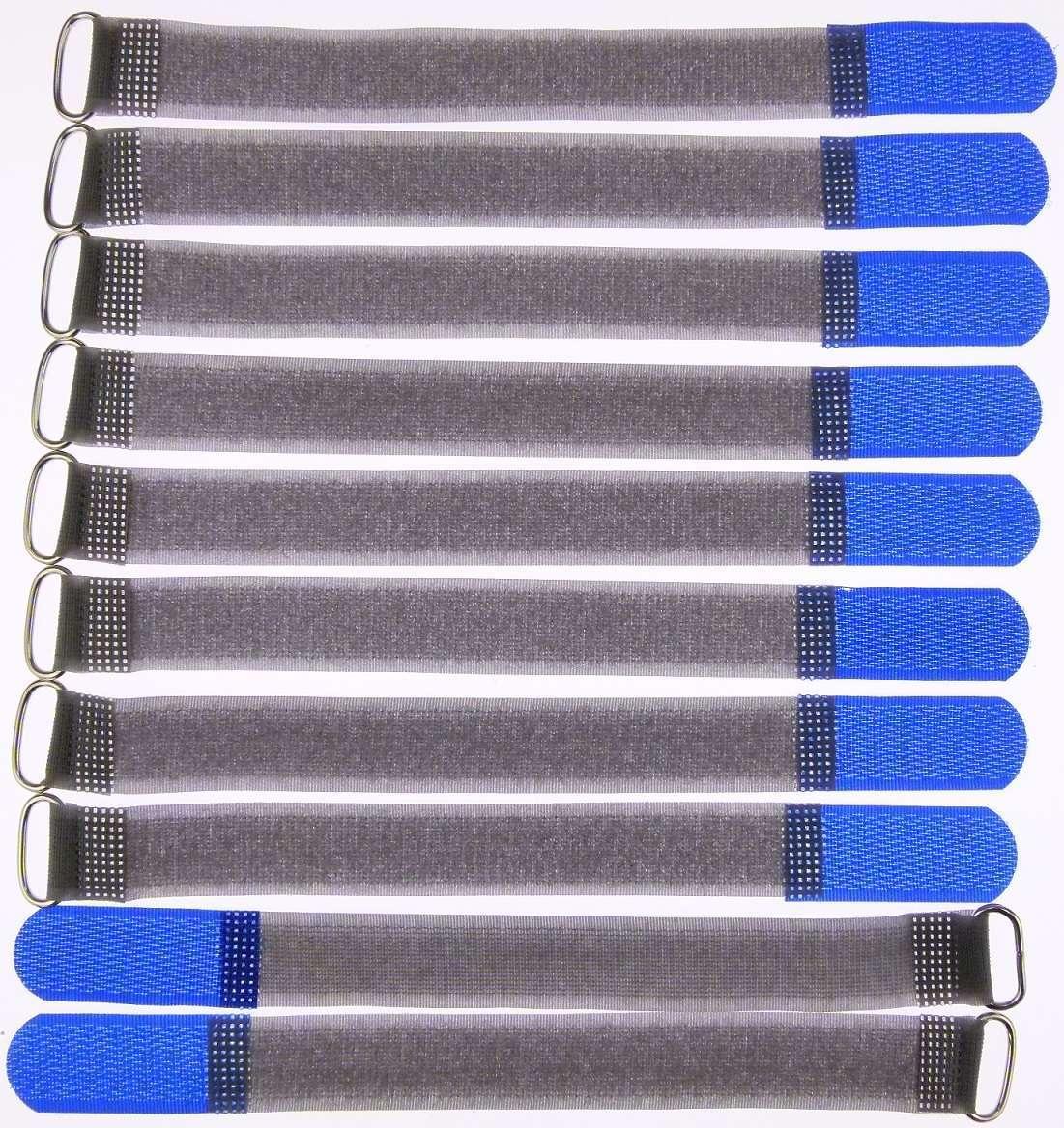 40 x Klettband Kabelbinder 20 cm x 20 mm gelb Klettbänder Kabelklett Metallöse