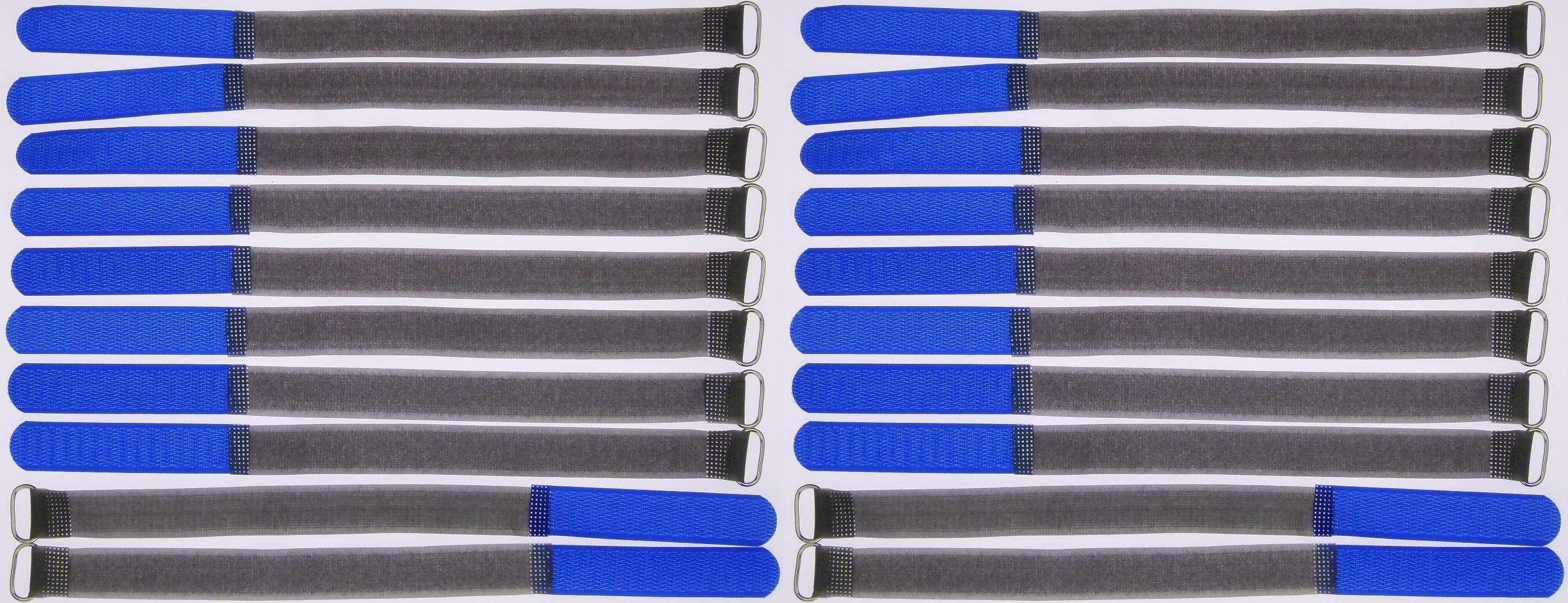20x Klettbänder Kabelklett 300 x 20mm rot Kabel Klett Band Kabelbinder Klettband
