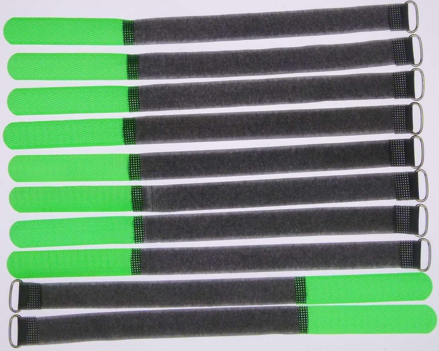 20 Klettkabelbinder 300 x 20 mm neongelb Klett Kabelbinder Klettband Kabelklett