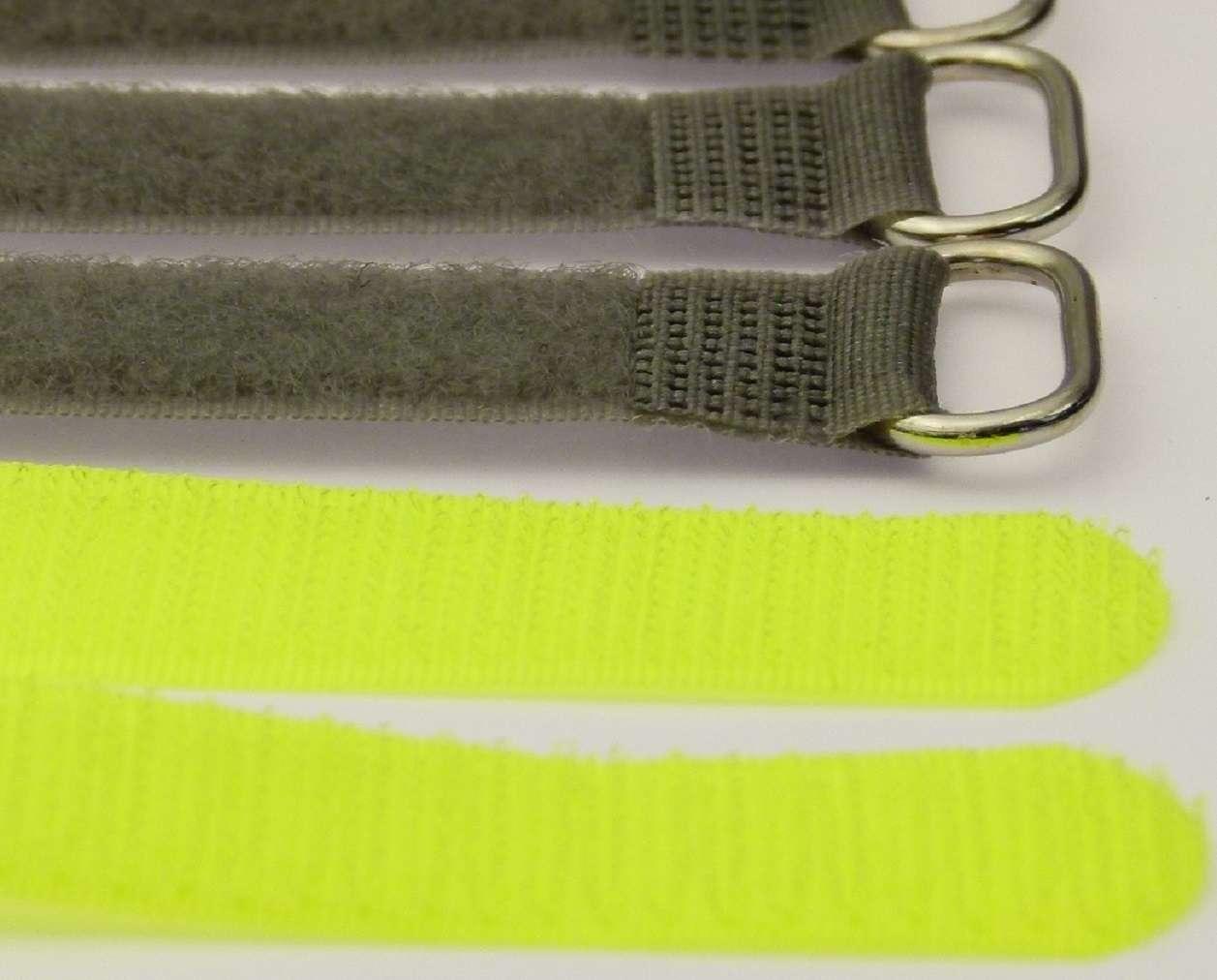40x Kabelbinder Kabelklett 30 cm x 20 mm neon gelb FK Klettband Klettkabelbinder