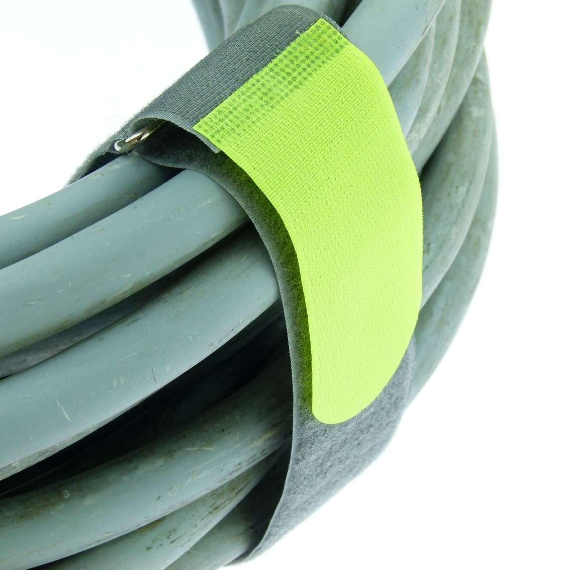 10 x Kabelklett Klettband 160 x 16 mm neon gelb FK Klett Kabelbinder Klettbänder