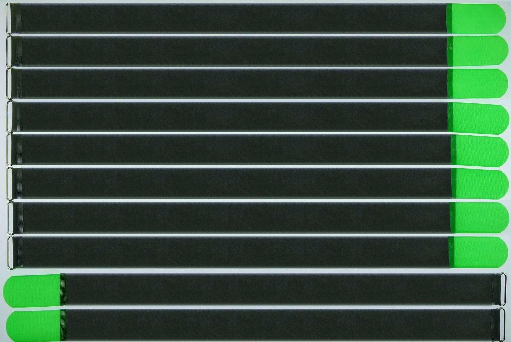 1 Rolle Wiederverwendbare Kabelbinder Klettband,27 Yard X 0.4 Zoll Schwarz