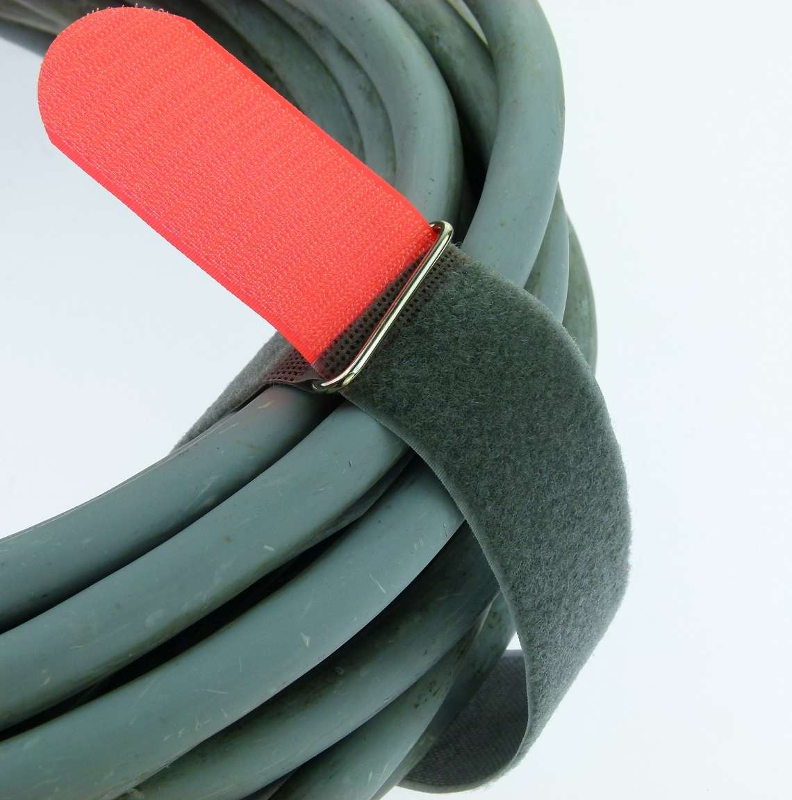 50 Klettkabelbinder m Öse 200 x 20 mm neongrün Kabelbinder Klettband Kabelklett