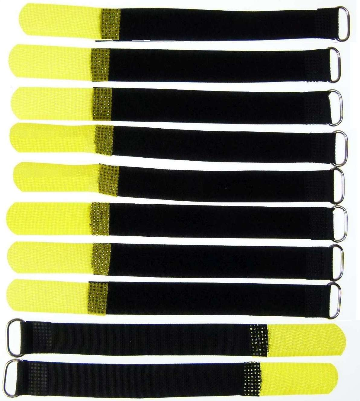20x Klettkabelbinder 160 x 16 mm gelb Kabelbinder Kabel Klettband Kabelklett Öse