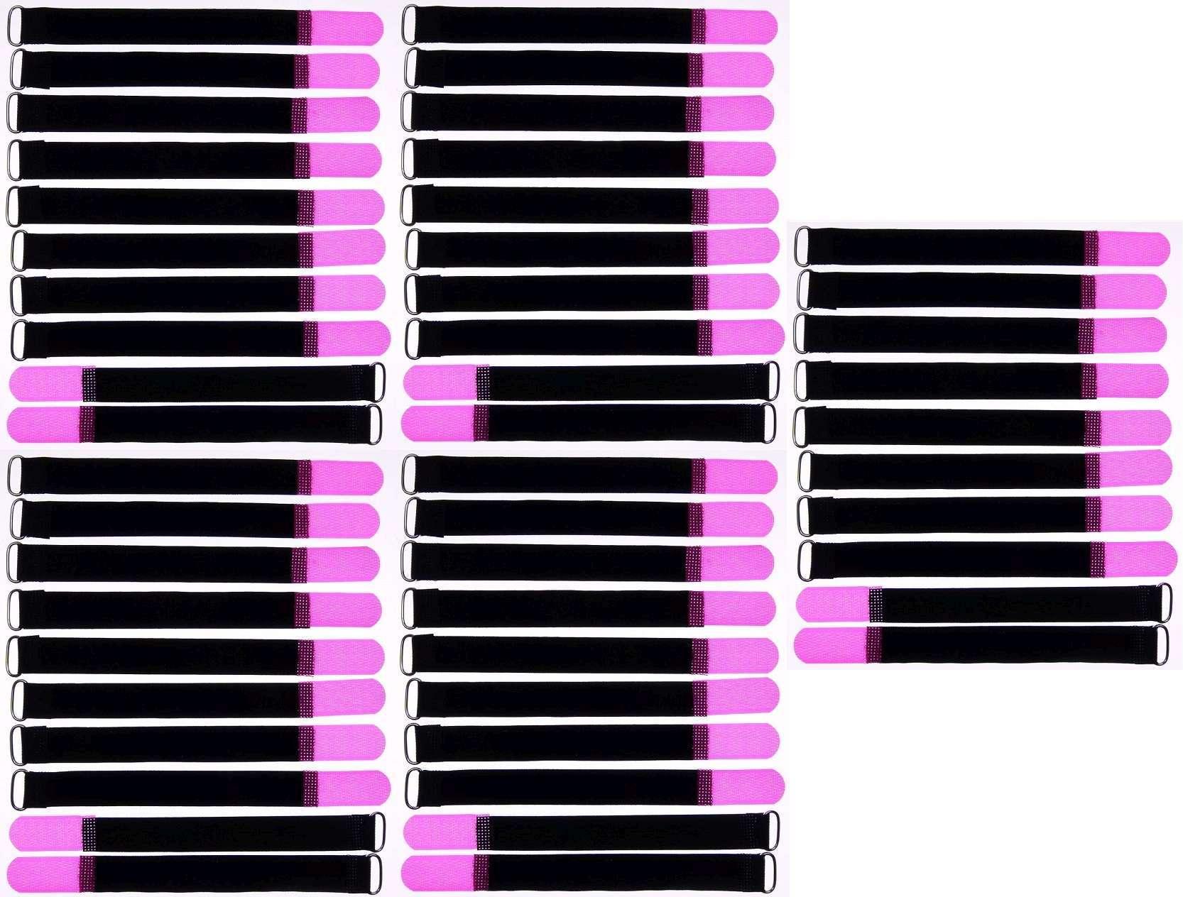 50x Kabelklettband 20 cm x 20 mm neon grün Klettband Klett Kabel Binder Band Öse