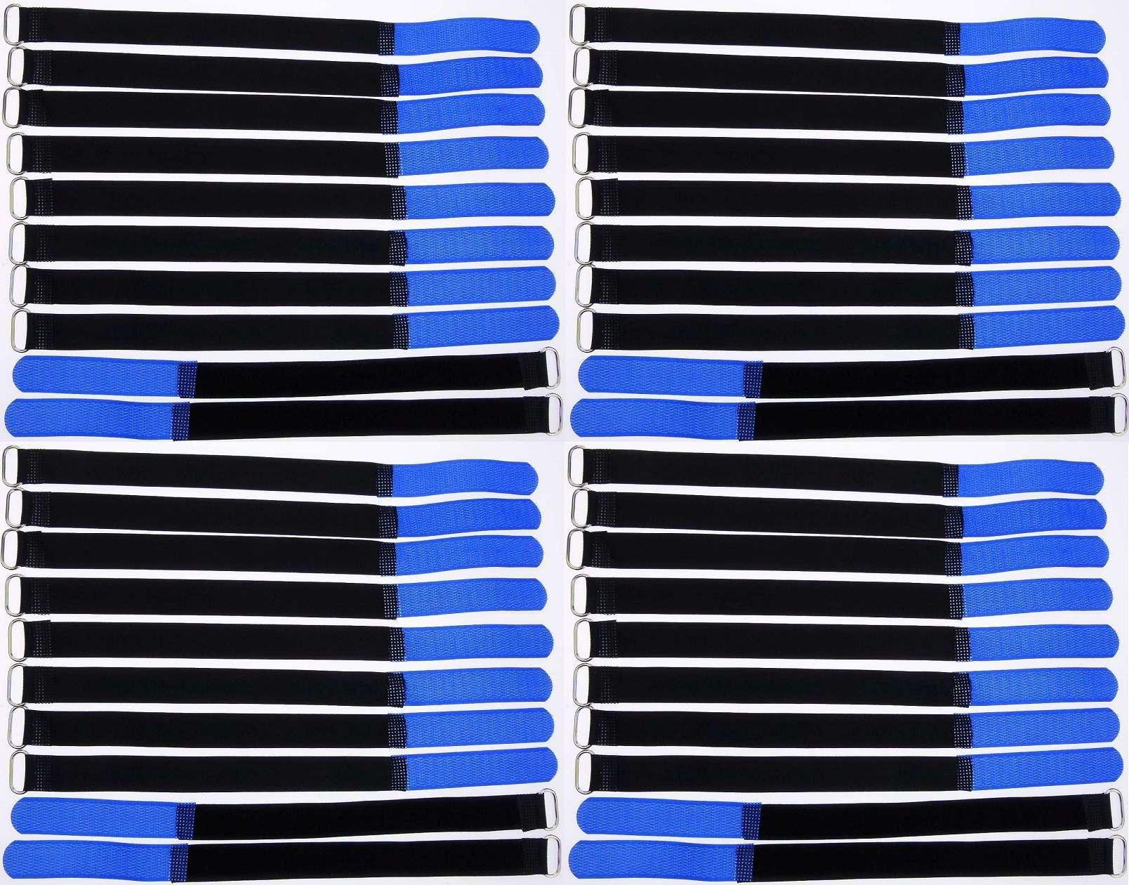 40x Klettbänder Kabelklett 300 x 20mm rot Kabel Klett Band Kabelbinder Klettband