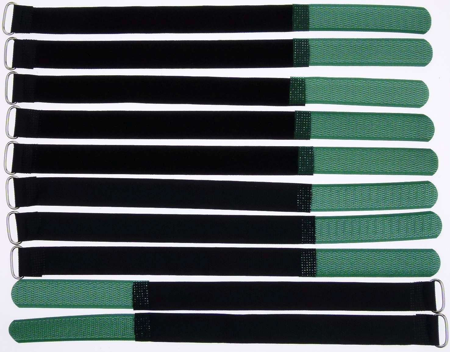 20 x Kabelklett Klettband 200 x 20 mm dunkel grün Klett Kabelbinder Klettbänder