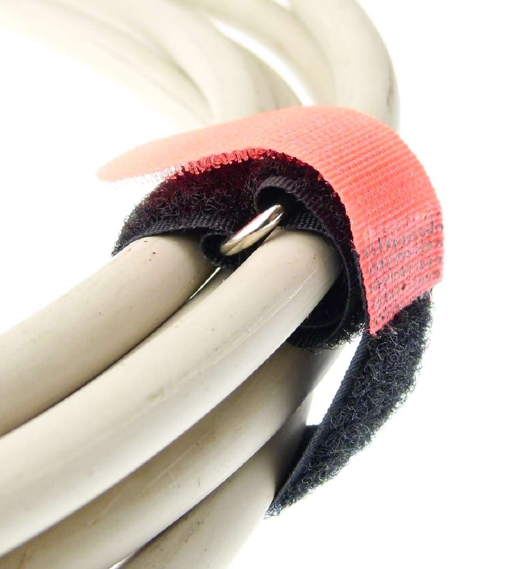 50x Klettband Kabelbinder 30 cm x 20 mm neon pink Klettbänder Kabelklettband Öse