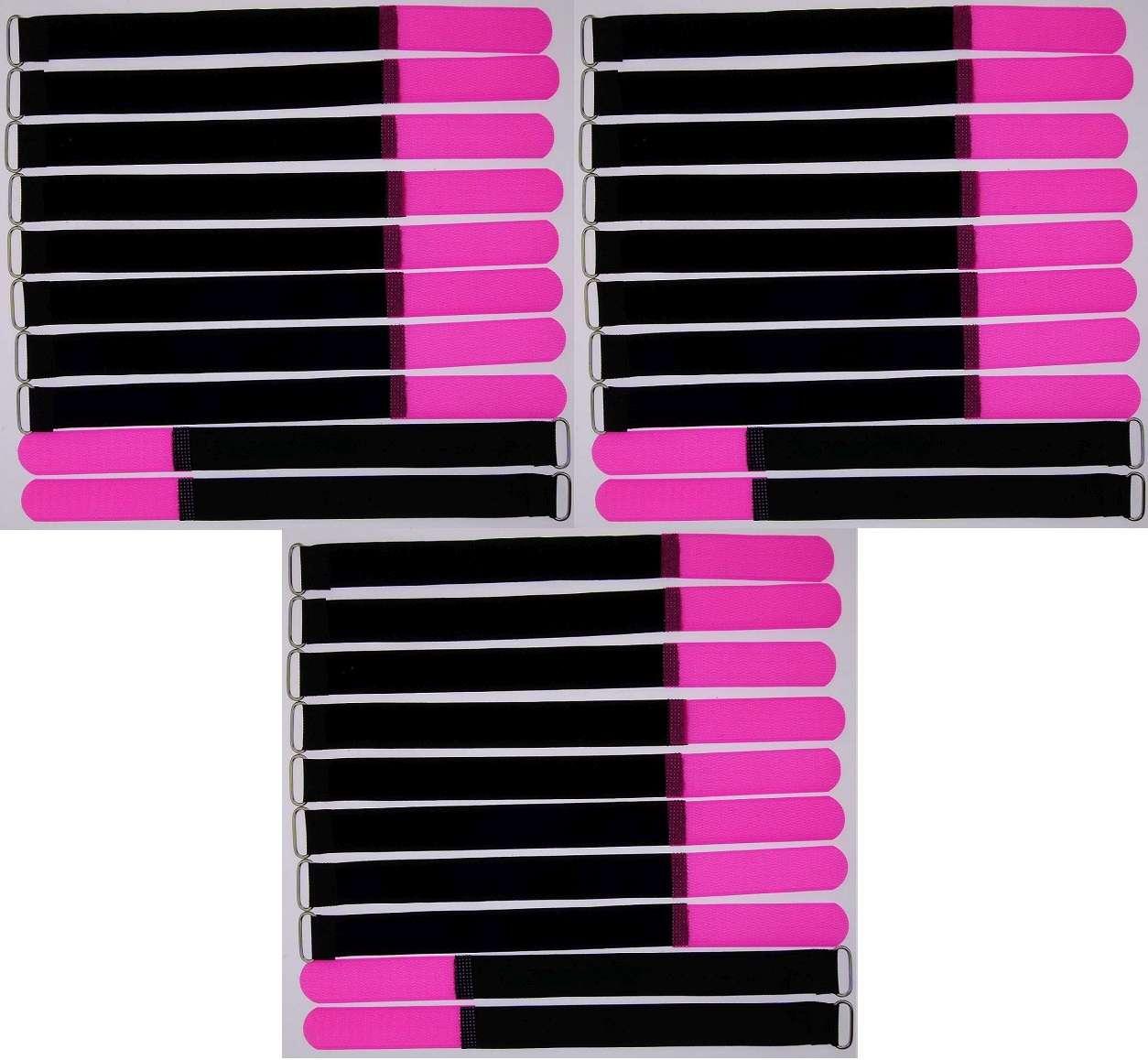 Öse 300 x 25 mm neongrün Kabelbinder Klettband Kabelklett 30 Klettkabelbinder m