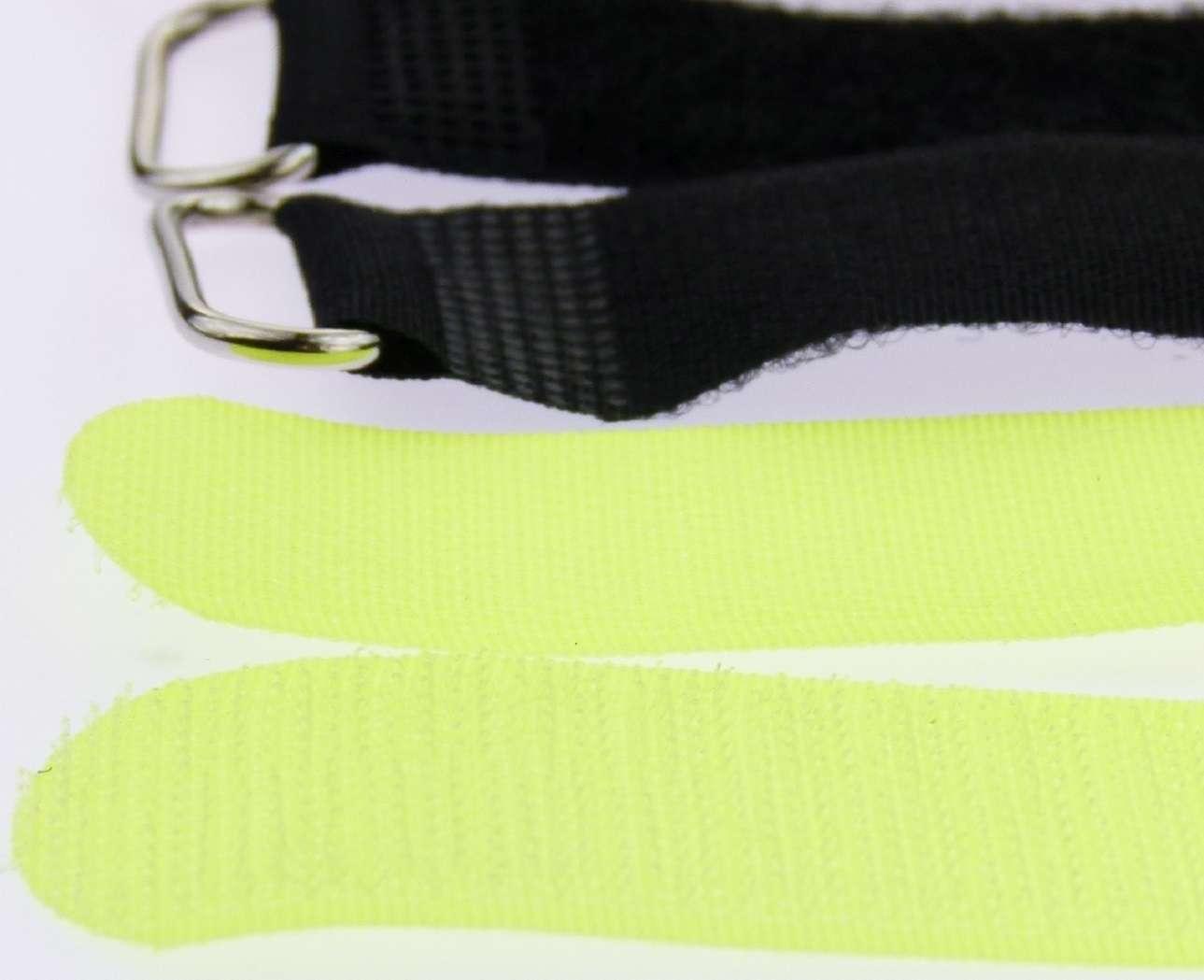 30 x Klettband Kabelbinder 30 cm x 25 mm gelb Klettbänder Kabelklett Metallöse