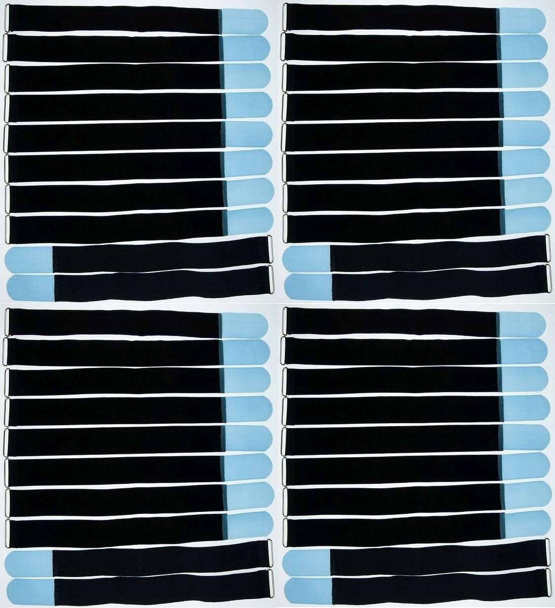 10x Kabelklett Klettband 300 x 20 mm hell blau Öse Klett Kabelbinder Klettbänder