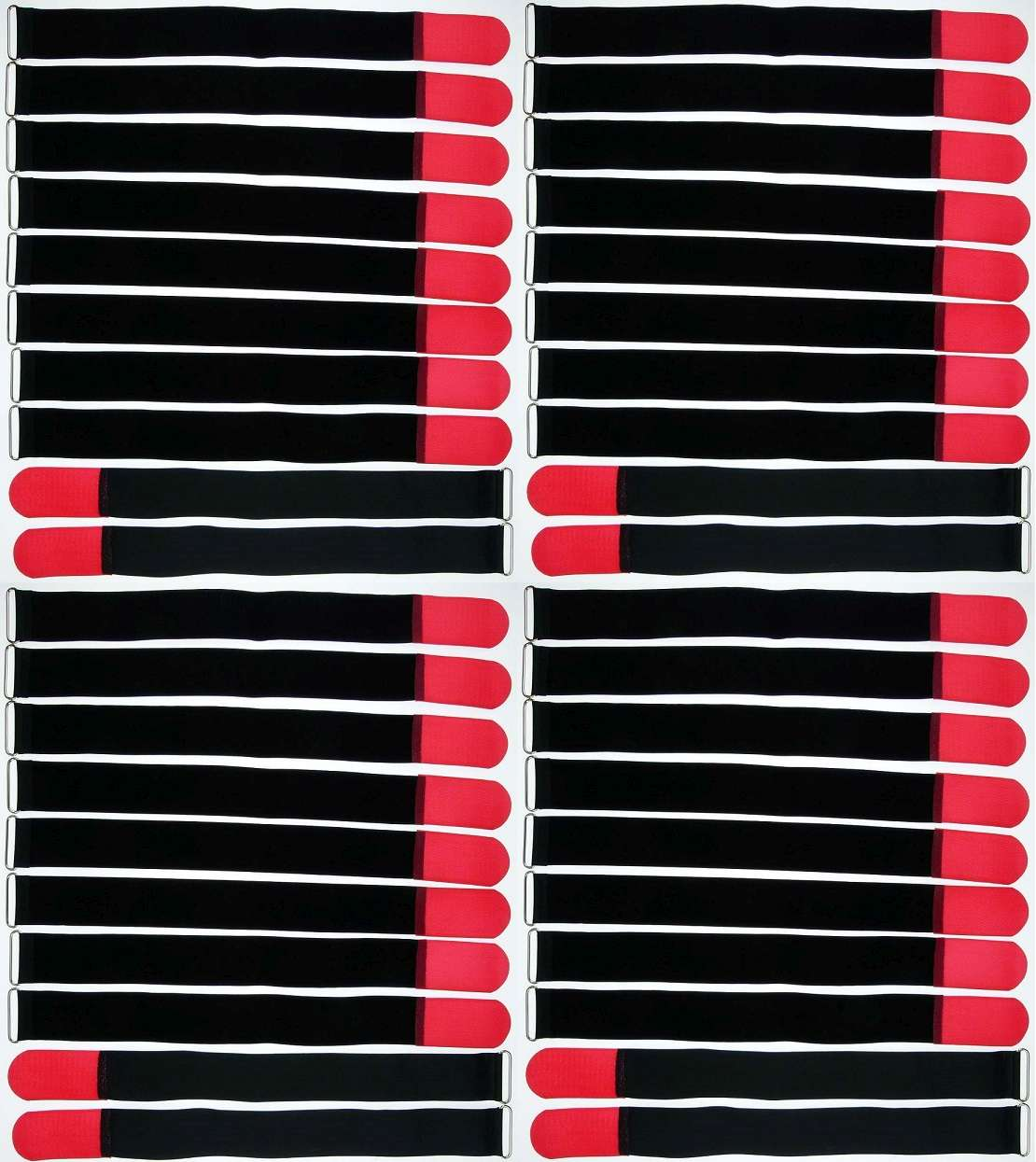 50 x Klettkabelbinder 500 x 50 mm neonrot Kabelbinder Kabel Klettband Kabelklett