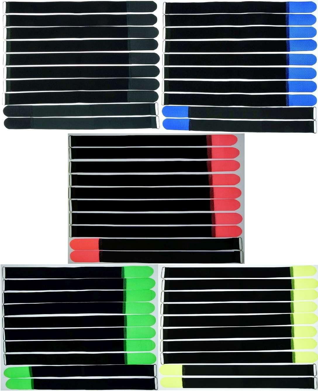 10 x Klettband Kabelbinder 16 cm x 16 mm dunkel grün Klettbänder Kabelklettband
