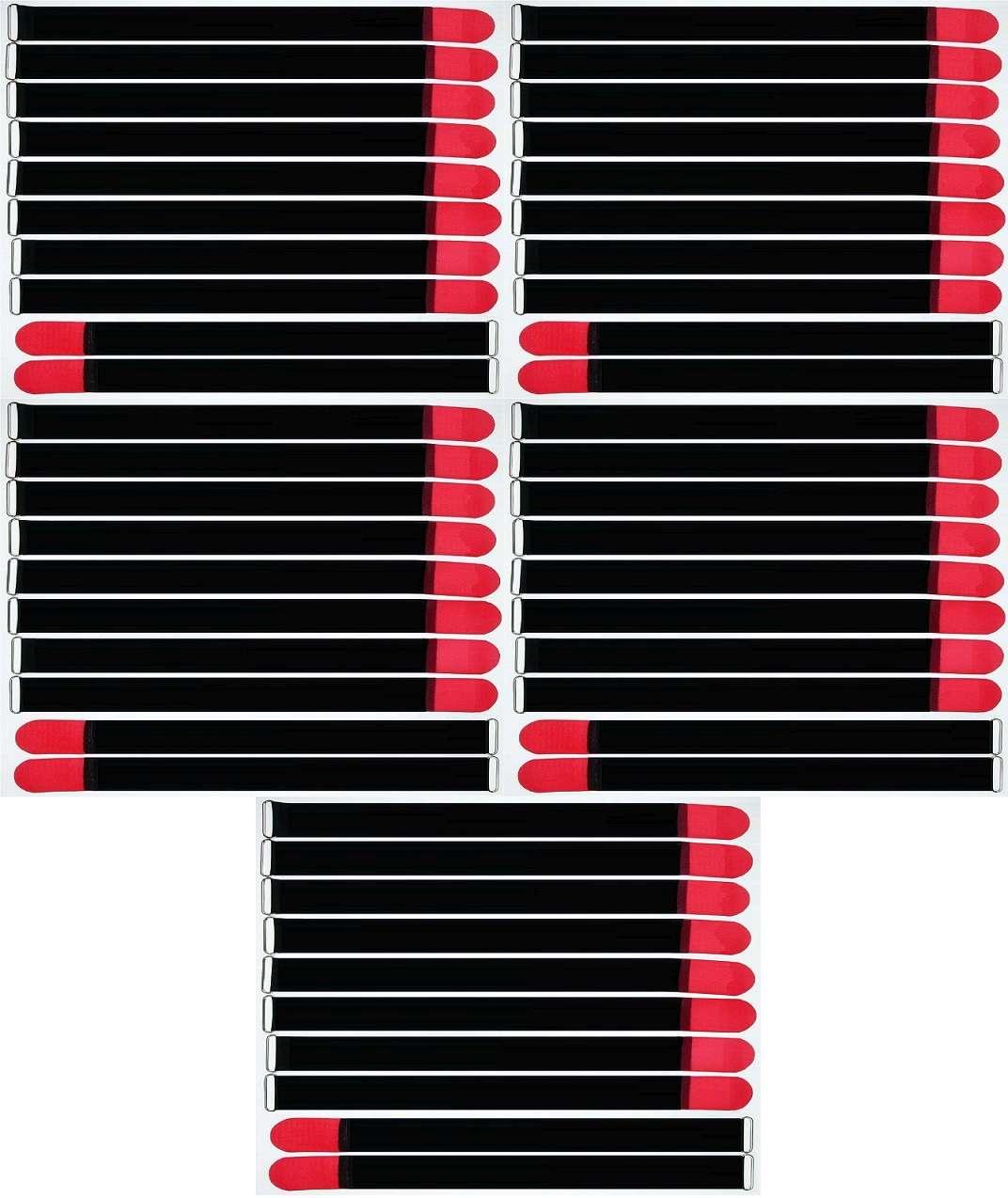50 x Klett Kabelbinder 500 x 50 mm neongelb Kabelklettband Kabelklett Klettband