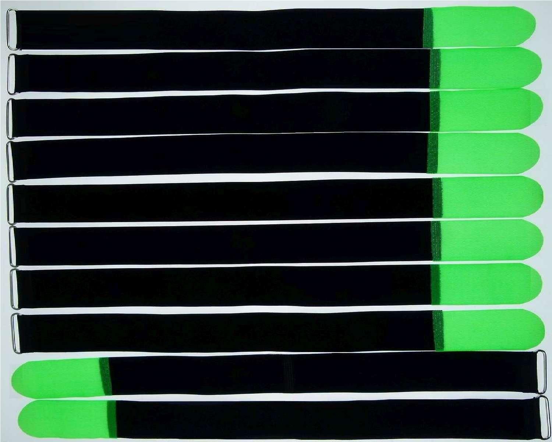 50x Velcro Serre-câbles œillet 300 x 20 mm Neonrot FK Serre-câbles Velcro Câble Velcro