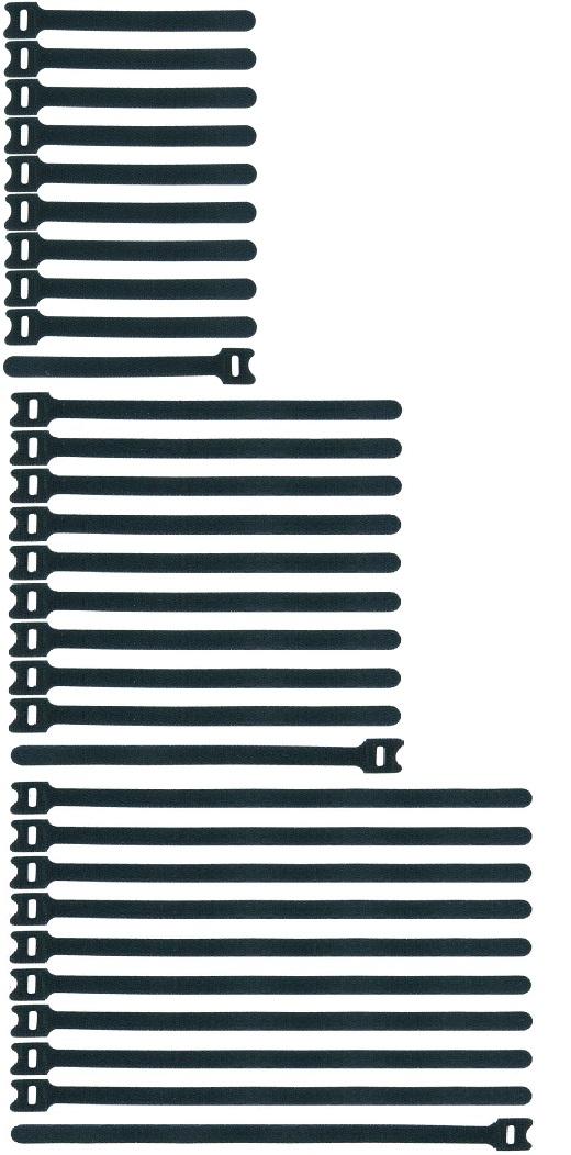 40 Kabel-Klettbänder 150mm ECO Kabelklett Kabelbinder Klettband Klettverschluss