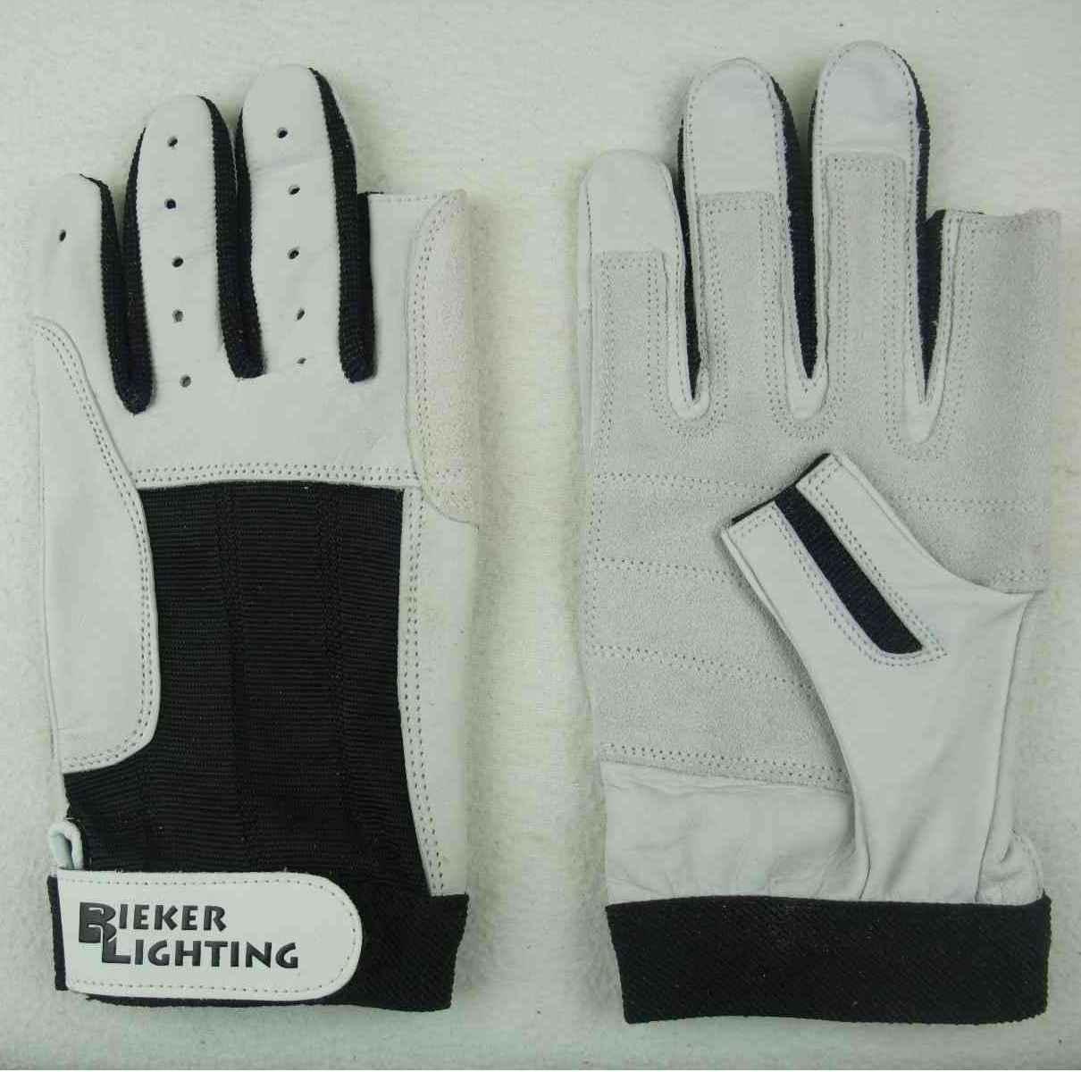XL fingerlos Rigger Roadie Gloves 2 Pa BluePort Segelhandschuhe Rindsleder Gr