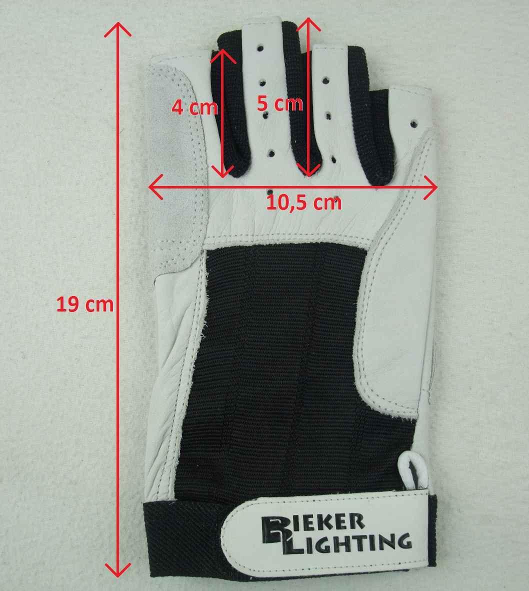 M fingerlos Roadiehandschuhe Bootsport 2 Paar BluePort Segelhandschuhe aus Rindsleder Gr