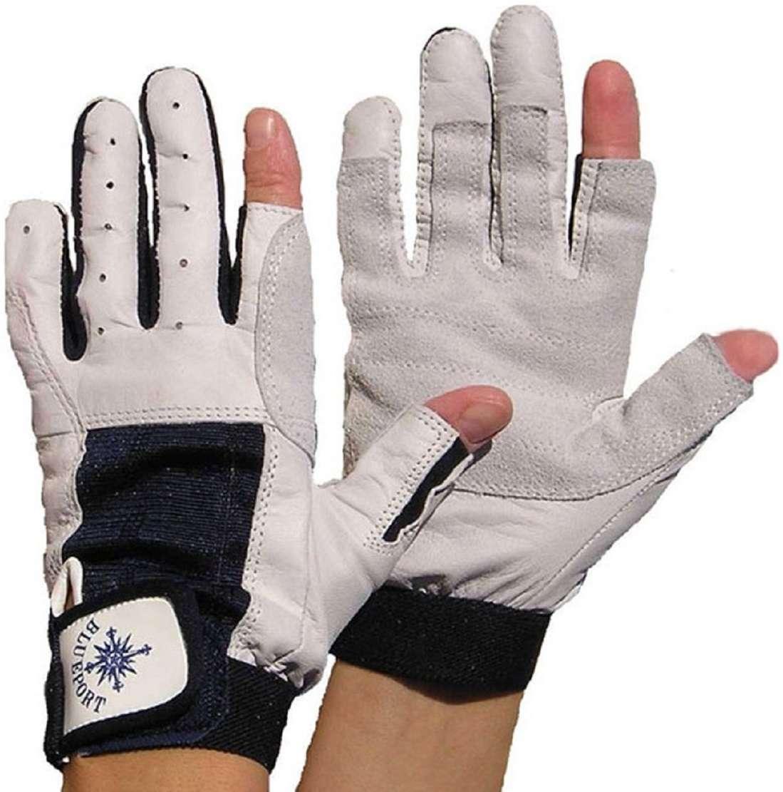 BluePort Segelhandschuhe Rindsleder Gr XL fingerlos Rigger Roadie Gloves 2 Pa