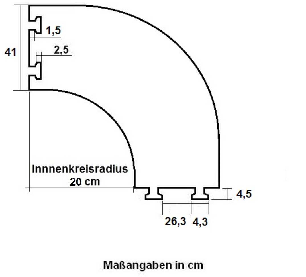 2x 30 Grad 5 Kanal Segment Kabelbrücke Bogen Biegung Kreisstück Ecke Kabelschutz Baugewerbe Musikinstrumente