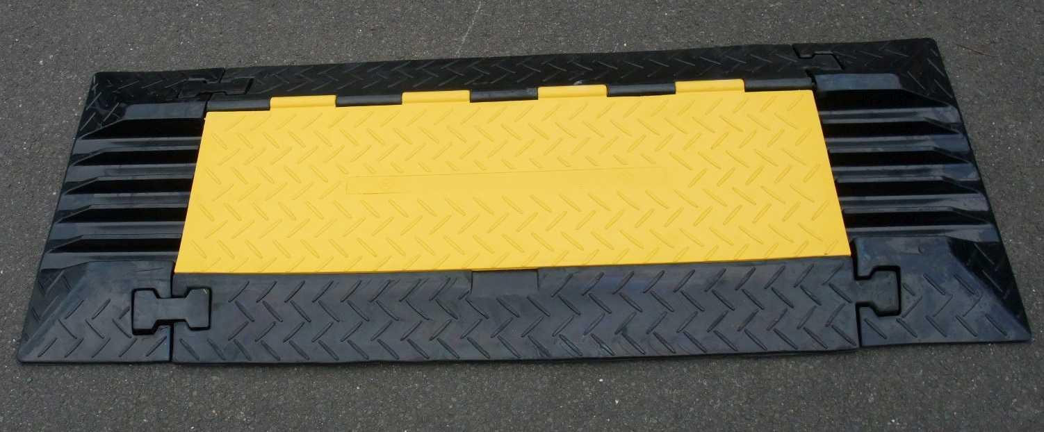 Baustellengeräte & -ausrüstung 2er Set Endstück Für 5 Kanal Kabel Brücke Cable Board Überfahr Schlauch Rampe