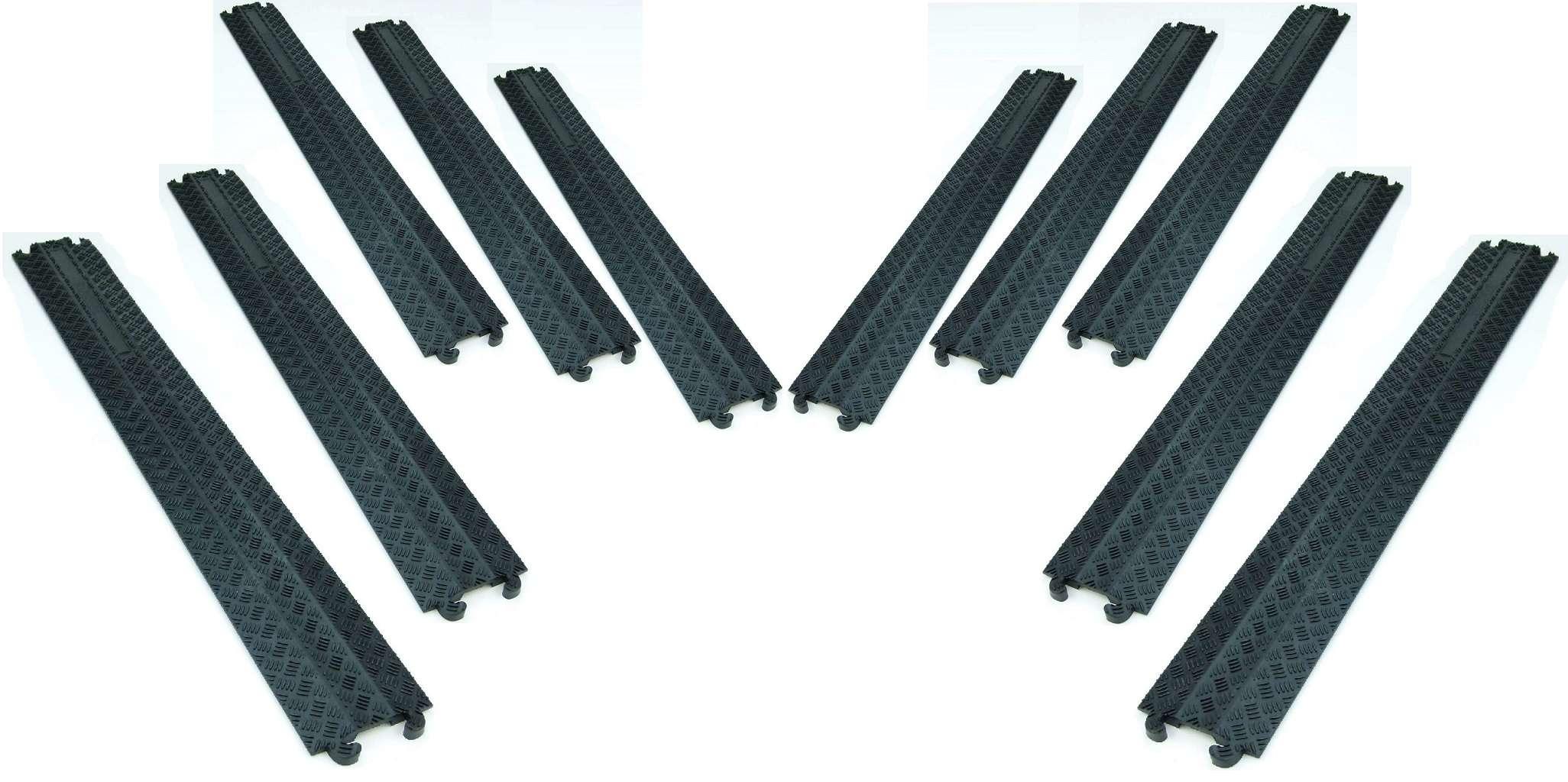 10x 1 Kanal Kabelbrücke Kabelmatte Überfahrrampe Kabelkanal Überfahrschutz Gummi Musikinstrumente Kabel, Leitungen & Stecker