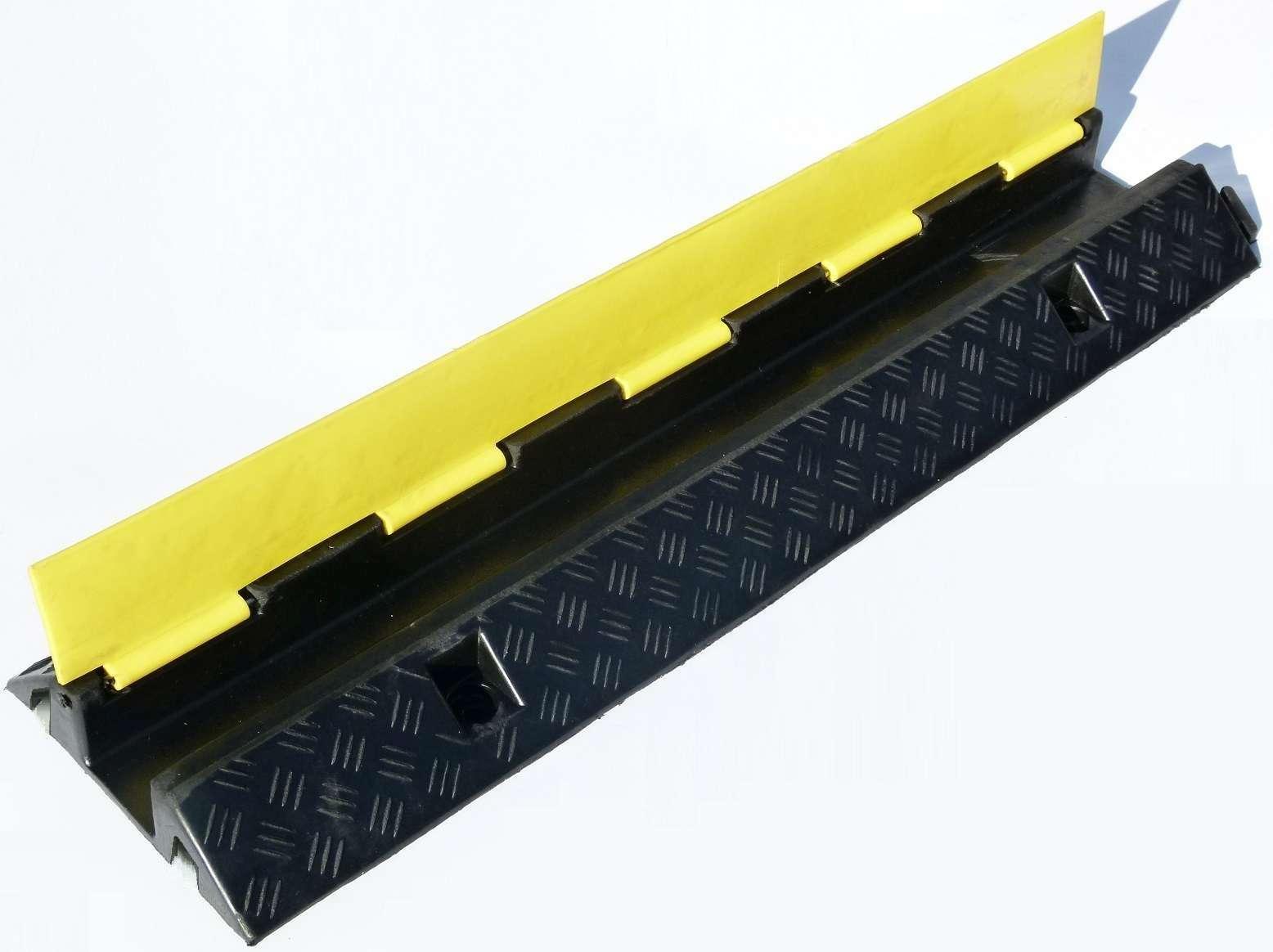 Kabel, Leitungen & Stecker Baustellengeräte & -ausrüstung 3x 1 Kanal Eco Kabelbrücke Kabelschutz Überfahrrampe Kabelmatte Kabelkanal Rampe