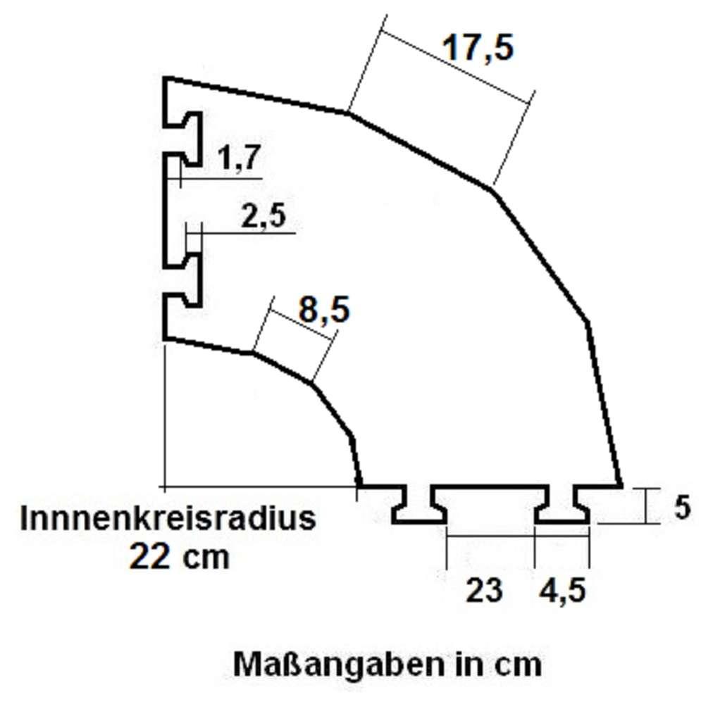 Sonstige Business & Industrie 4 X 45° Bogen 2 Kanal Eco Kabelbrücke Überfahrschutz Gummirampe Kabelkanal Kreis