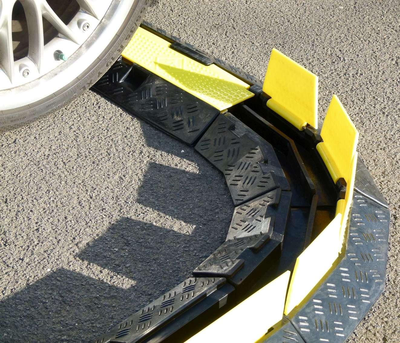 Pro-audio Equipment Business & Industrie 3x 45 Grad Kreisstück 2 Kanal Eco Kabelbrücke Pkw Lkw Überfahrrampe Bogen Ecke