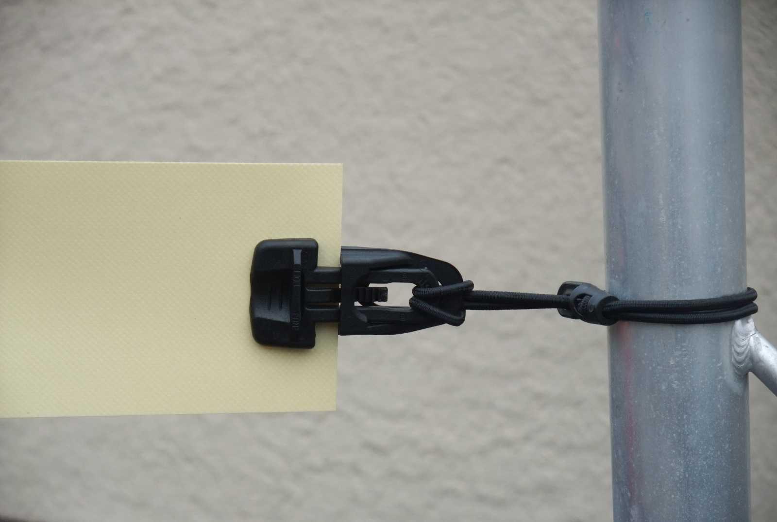 20 x Spannklammer grau MIDI-CLIP-Planen-Spanner-Halter 25 cm Ø 4mm Spanngummi