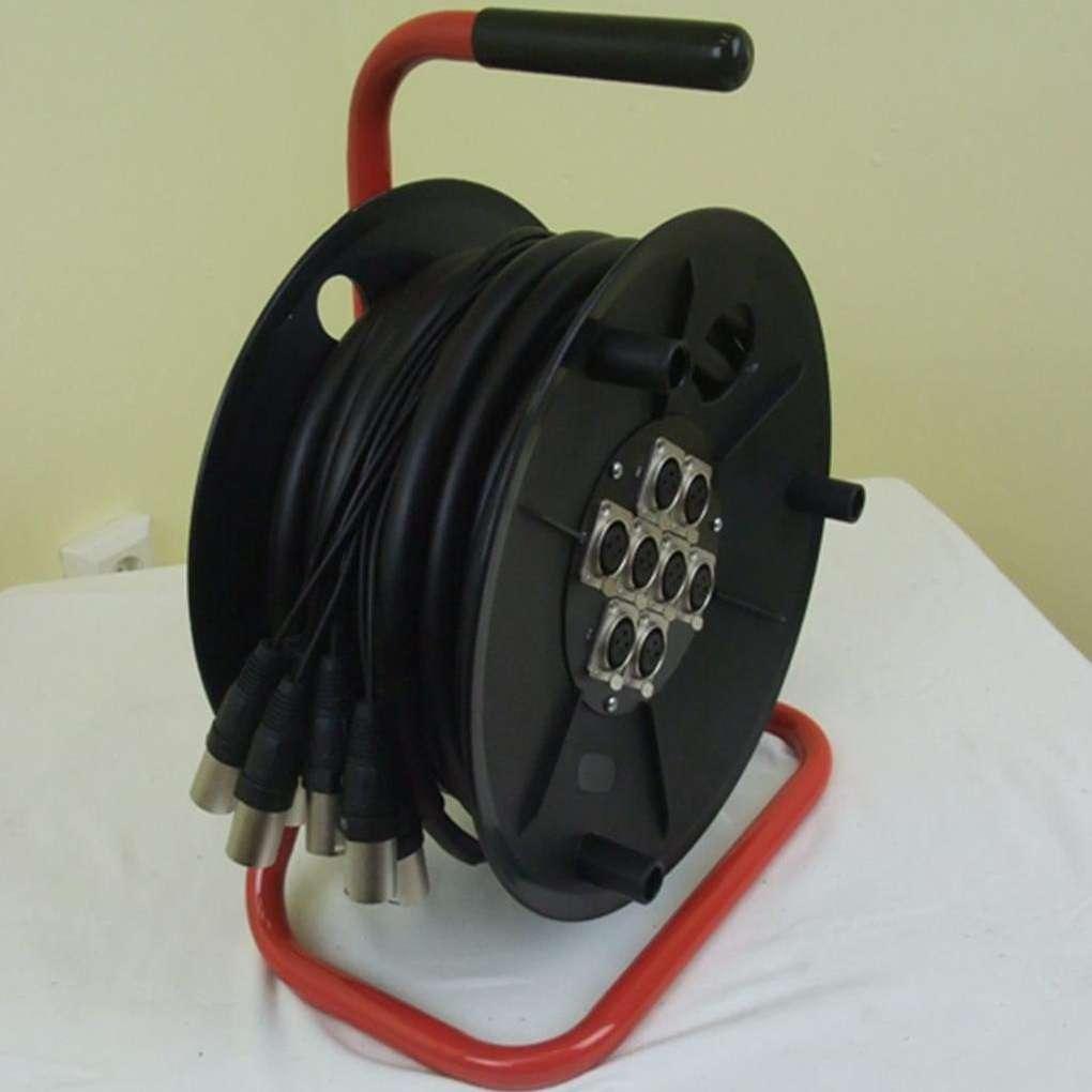 Audio For Video 15m Multicore 8x Xlr Xlr Auf Trommel Sub Snake Multicorekabel Mtc-8 Neu Cables, Leads & Connectors