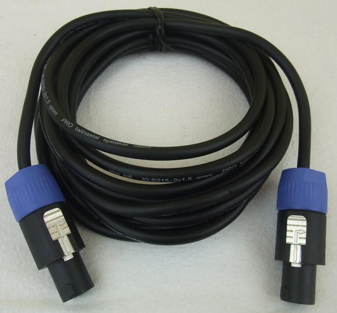 5 m Lautsprecherkabel 2 x 1,5 mm² Speakon kompatibel Speakerkabel ...