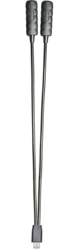 2 x Adam Hall SLED 2 ULTRA USB Ultrahelle LED Schwanenhalslampe Minilight 2-Arm