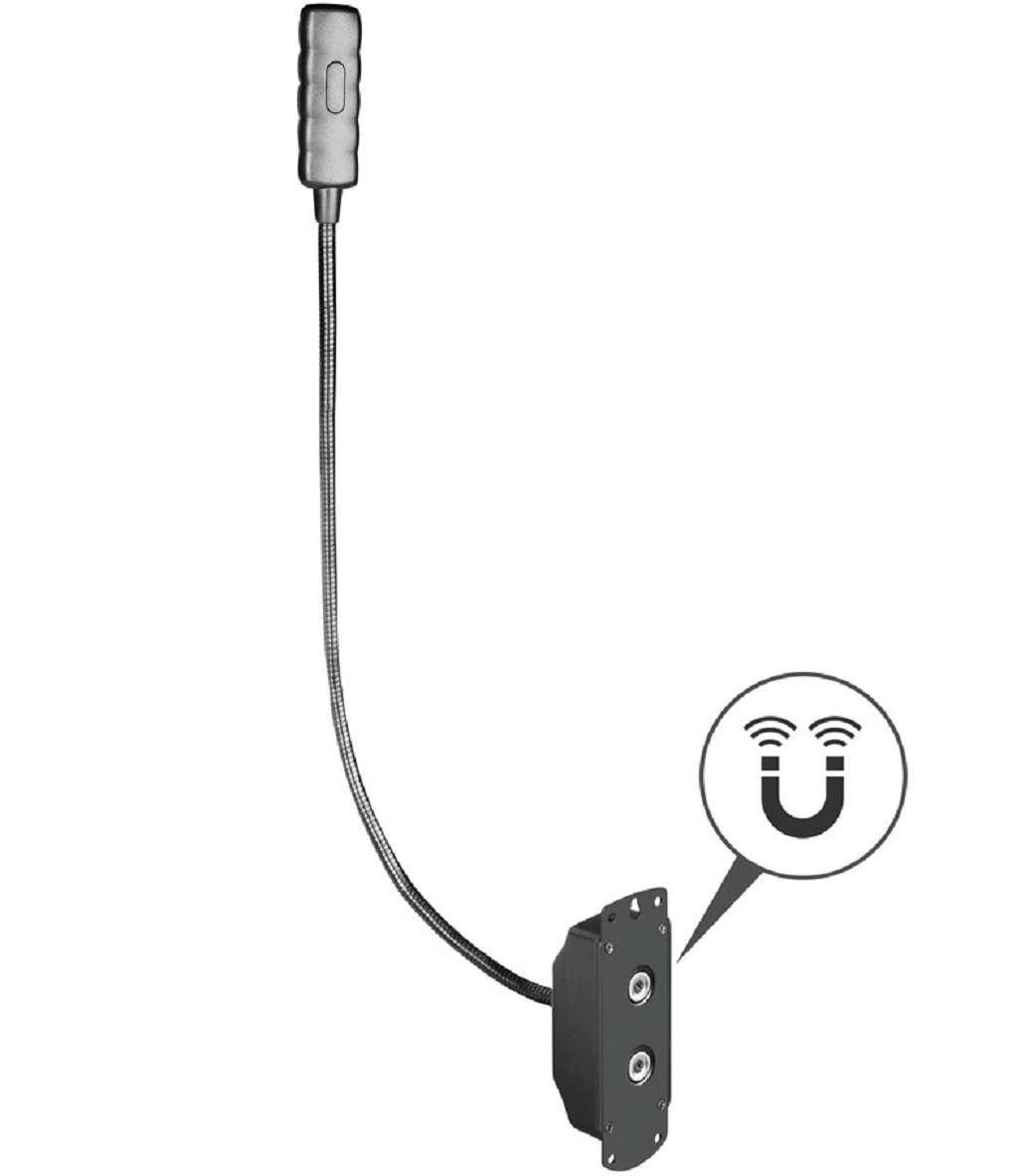 Sockel /& Trafo Fexilight Minilight 2x Ultrahelle Schwanenhalslampe 4 x COB LED