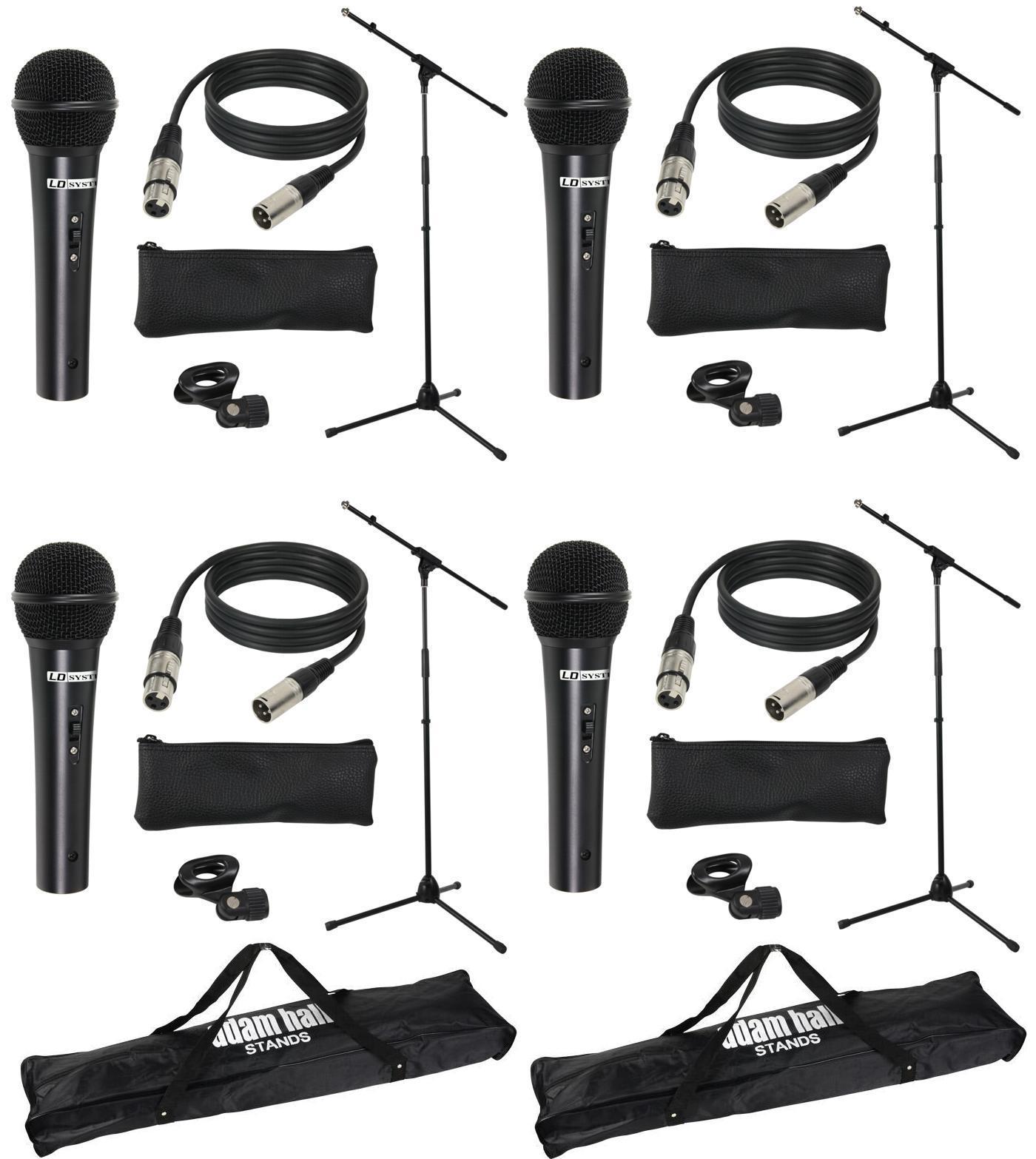 Stativ 6 Sets LD Systems MICSET1 mit Handmikrofon 5m Mikrofonkabel 3x Tasche