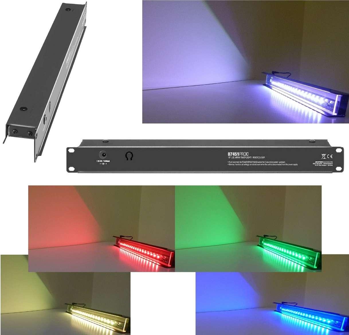 "Server Racklight Racklampe Lampe Adam Hall 1 HE 19/"" LED Array Rack Light weiß"