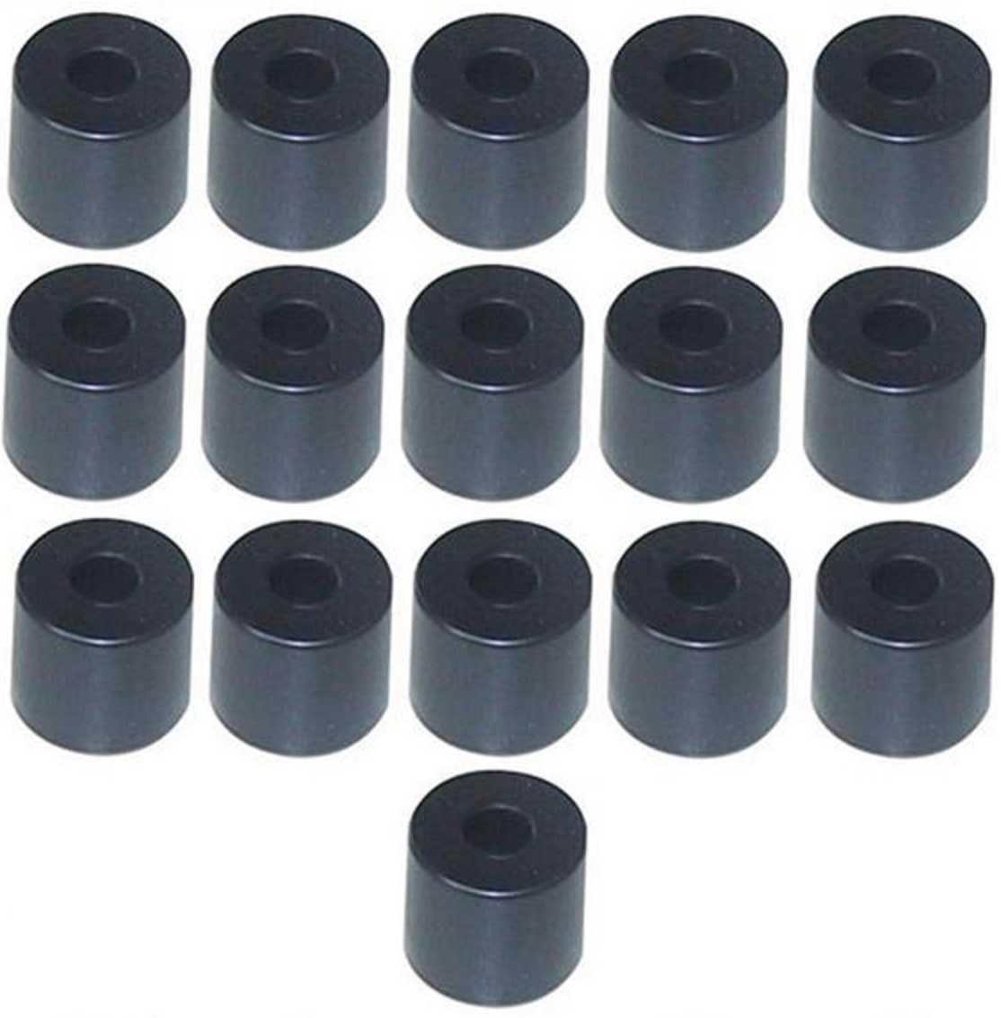 16 Gummifüße Ø 38 x 33 mm Stahleinlage Adam Hall 4913 Gerätefuß Möbelfüße Gummi