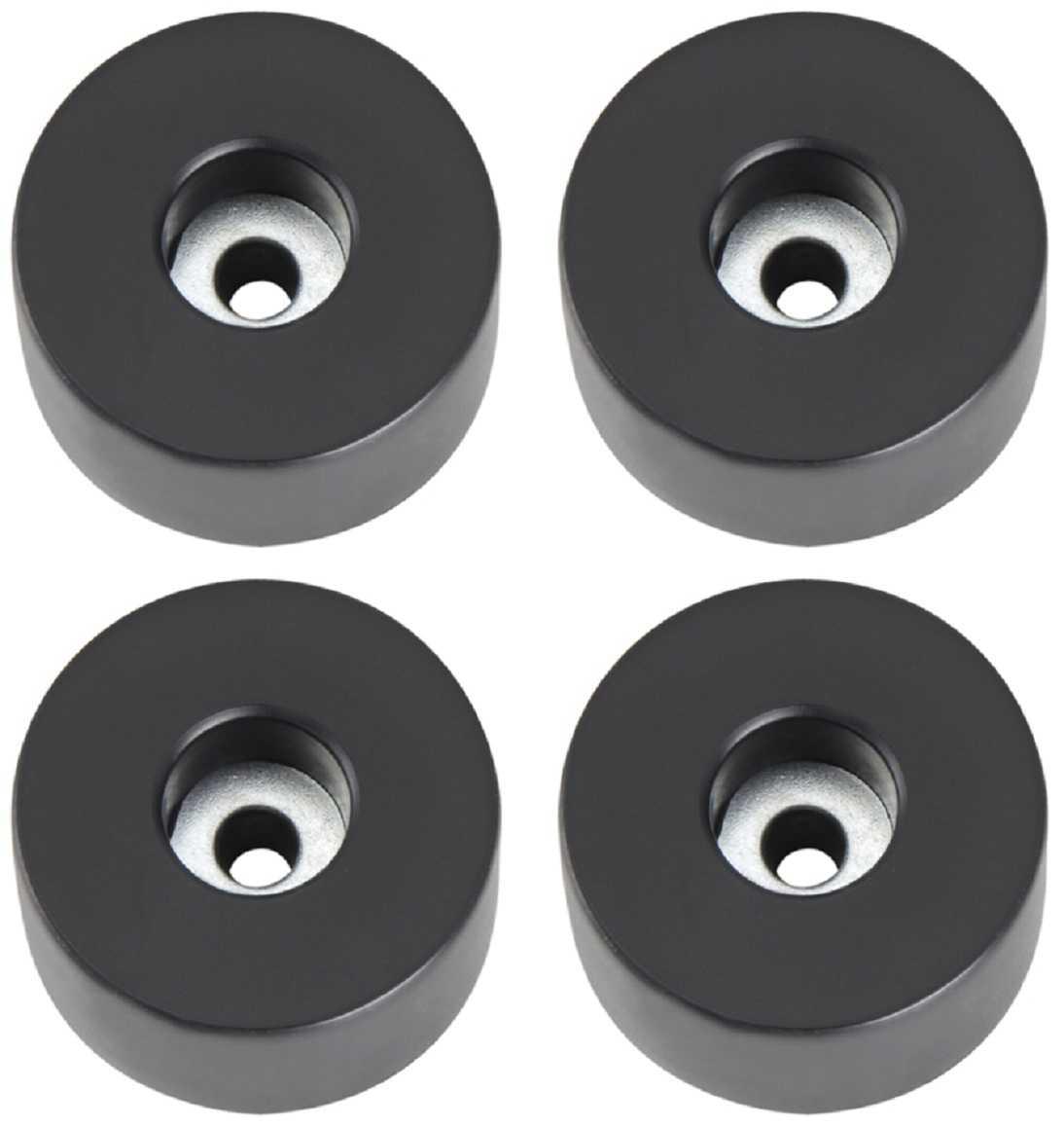 4 Gummifüße Ø 38 x 15 mm Stahleinlage Adam Hall 4907 Gerätefuß Möbelfüße Gummi